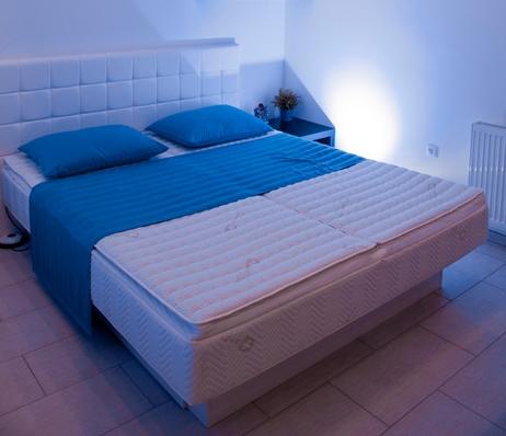Vodna postelja silver visco top
